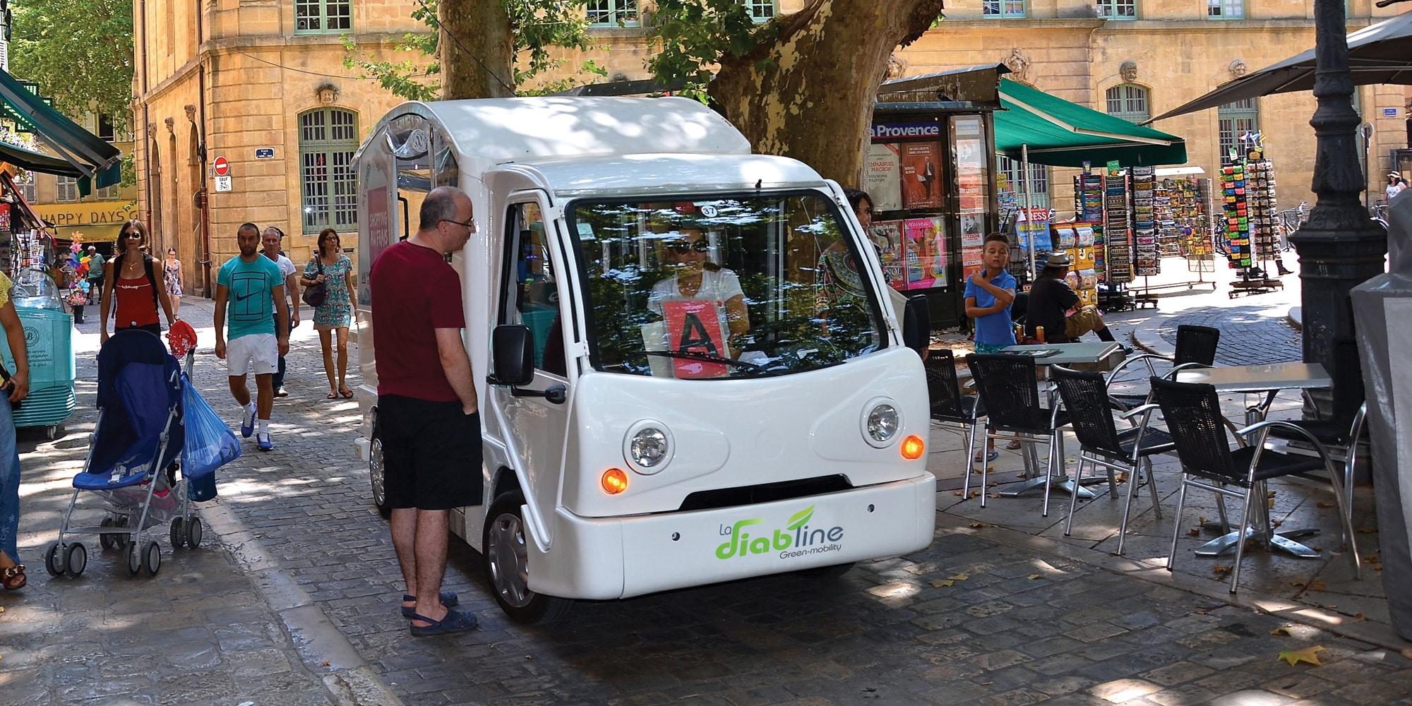 La diabline la navette lectrique du centre ville d 39 aix en provence - Aix en provence salon bus ...