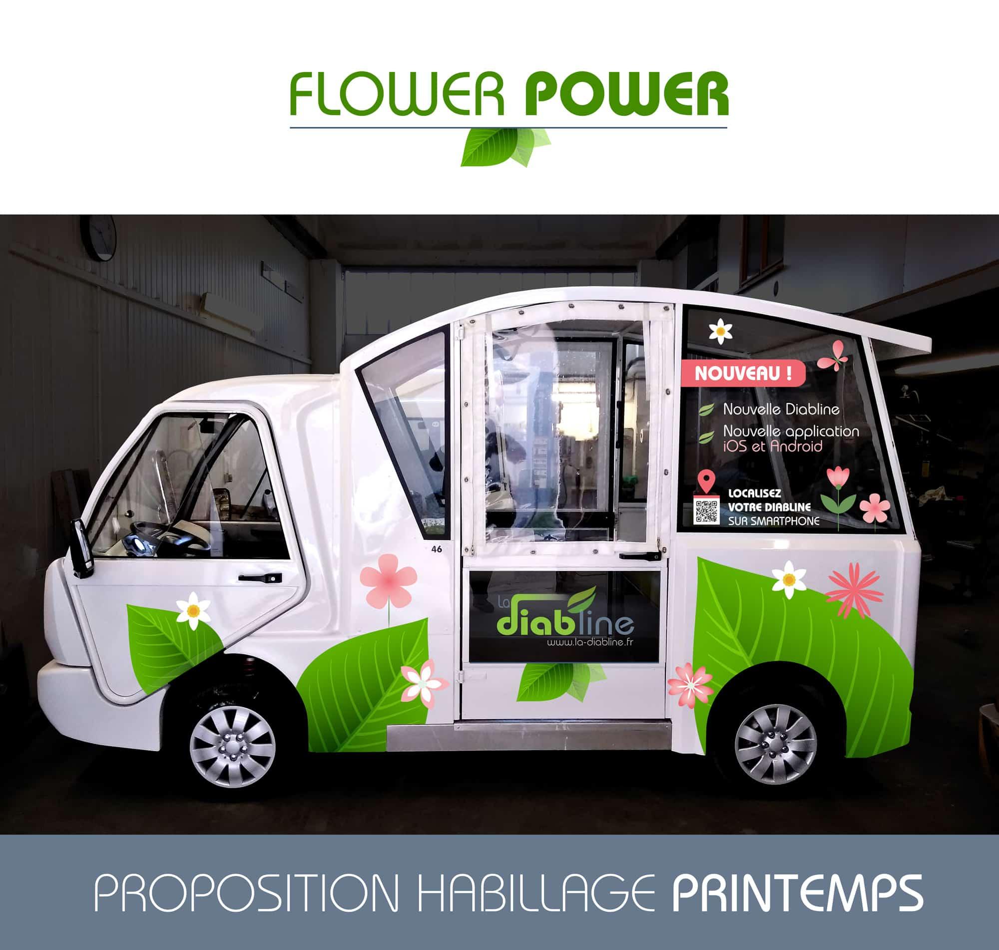 Nouvel habillage Flower Power et localisation smartphone de la Diabline !